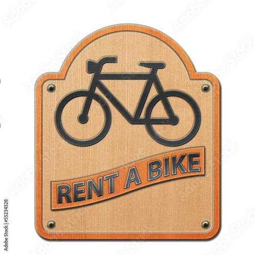 Fototapeta Rent a Bike - Schild Holz 2.jpg