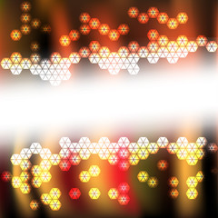 Abstract background with hexagon light