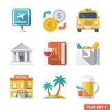 Fototapety Traveling Flat Icons 1
