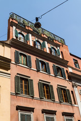 Rome, Italy. Typical architectural details of the old city
