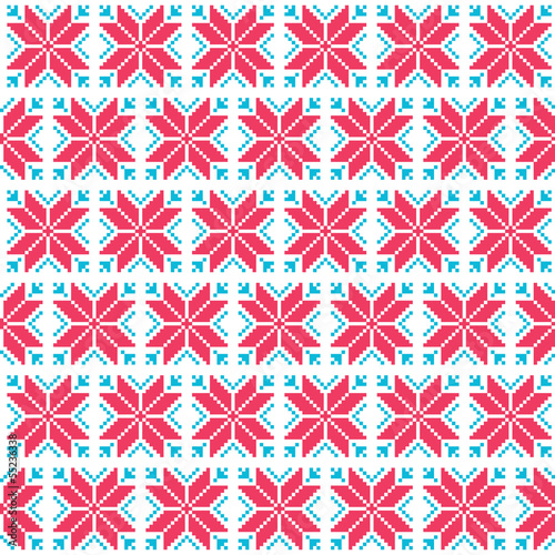 Christmas nordic seamless pattern