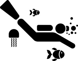 Pictogram of a Diver