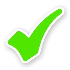 sticker of green check mark