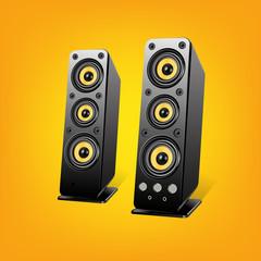 Loudspeakers.Vector Illustration