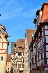 Facwerkhäuser in Nürnberger Altstadt