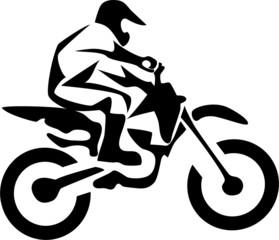 stylized motocross rider