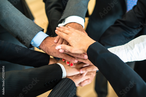 Teamwork - stack of hands
