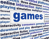 Games technological words poster