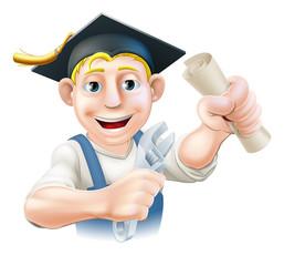 Graduate plumber or mechanic
