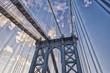 Details of Manhattan Bridge, New York City.
