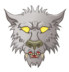 Head of werewolf  baring his teeth