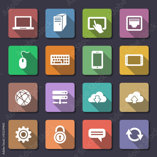 Web icons set. Flaticons series