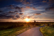 warm sunbeams by Dutch windmill