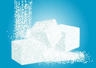 granulated sugar and lump sugar