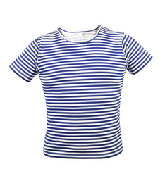 Striped vest T-shirt. Front.