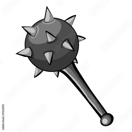 Medieval Mace isolated illustration