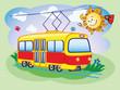 Fun tram and the sun
