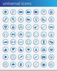 Universal blue icons