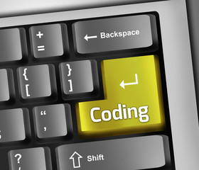 "Keyboard Illustration ""Coding"""