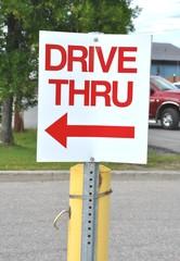 Drive thru signage