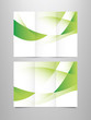 tri fold green brochure template
