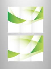 tri fold green brochure template