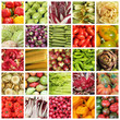 collection of images from vegetable farmers market