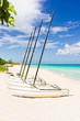 Sailing boats at the beautiful beach of Varadero in Cuba