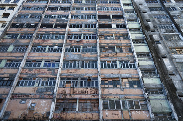 Abandoned building in Hong Kong
