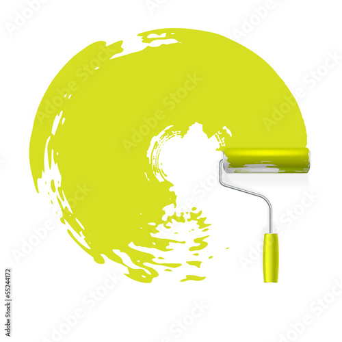 paint roller vector concept background