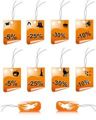 Стикеры для распродажи на Halloween