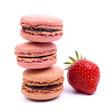 Macarons, Erdbeere