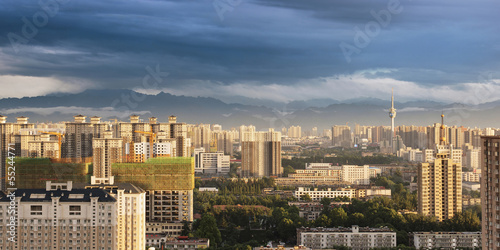 Fotobehang Xian city panorama