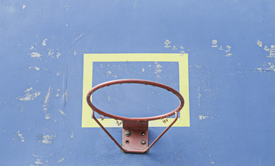 Blue Basketball Hoop
