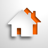 real estate 3d vector orange background