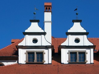Unique medieval roofs in Levoca