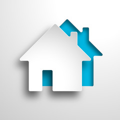 real estate 3d vector blue background