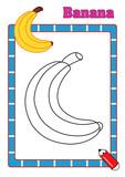 colora la frutta, banana