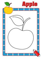 colora la frutta, mela