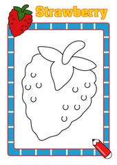 colora la frutta, fragola