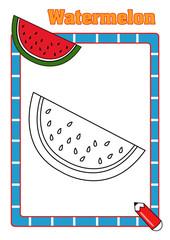 colora la frutta, melone