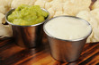 Ranch dip, guacamole and cauliflower