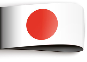 vector product label japanese flag