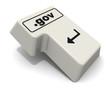"""Клавиша """"ВВОД"""" клавиатуры с доменным именем """".gov"""""""
