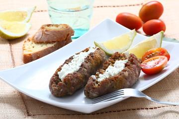 salsiccia arrosto e tzatziki