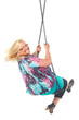 mature woman on the swing