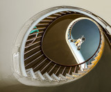 Spiral stairs to upper bedrooms and parlors poster