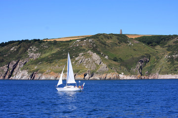yacht off South Devon