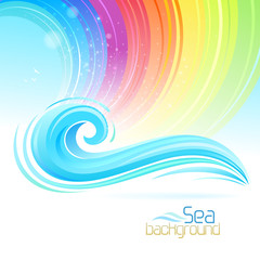 Sea Wave and Rainbow colors