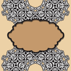 Beautiful lace pattern. The circular background.